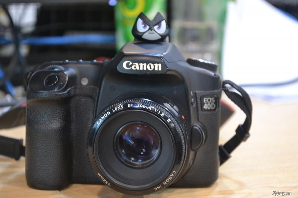 Máy Ảnh Canon 40D Cũ + Len EF 50 1/1.8