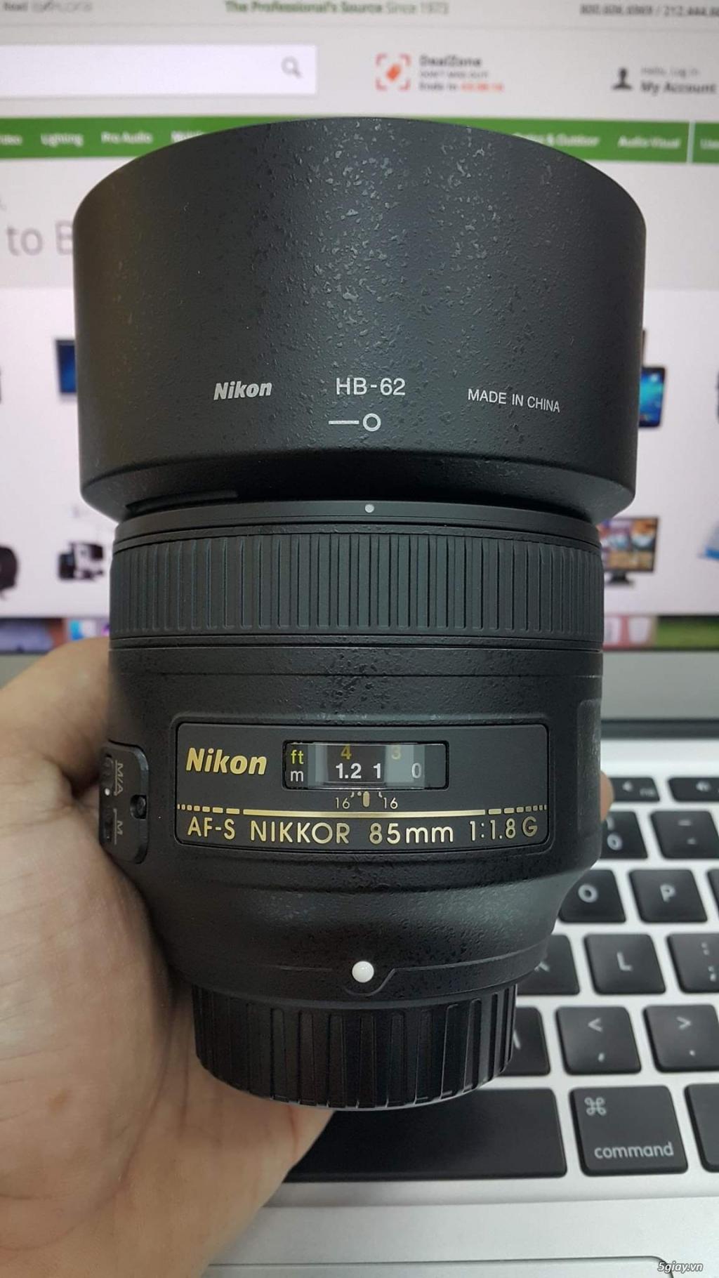 Cần bán: Ống Kính Nikon AF-S 85mm F1.8G like new, giá tốt chơi Tết.