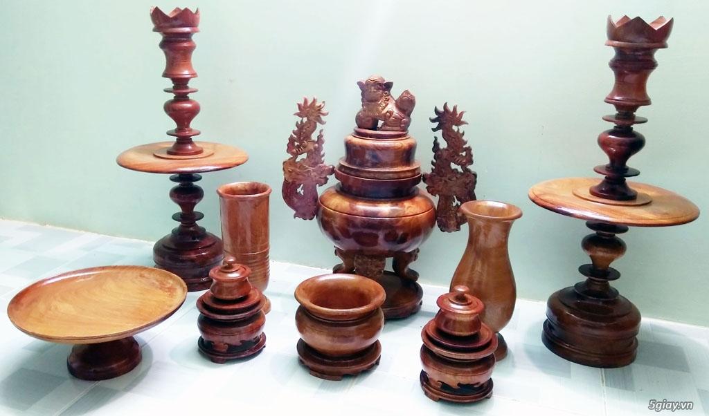 Cần bán 2 bộ đồ thờ gỗ hương tự nhiên 100%