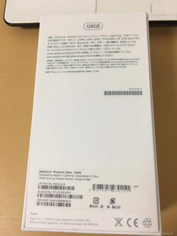 Cần bán IPHONE 6s Silver 128GB fullbox quốc tế. - 3