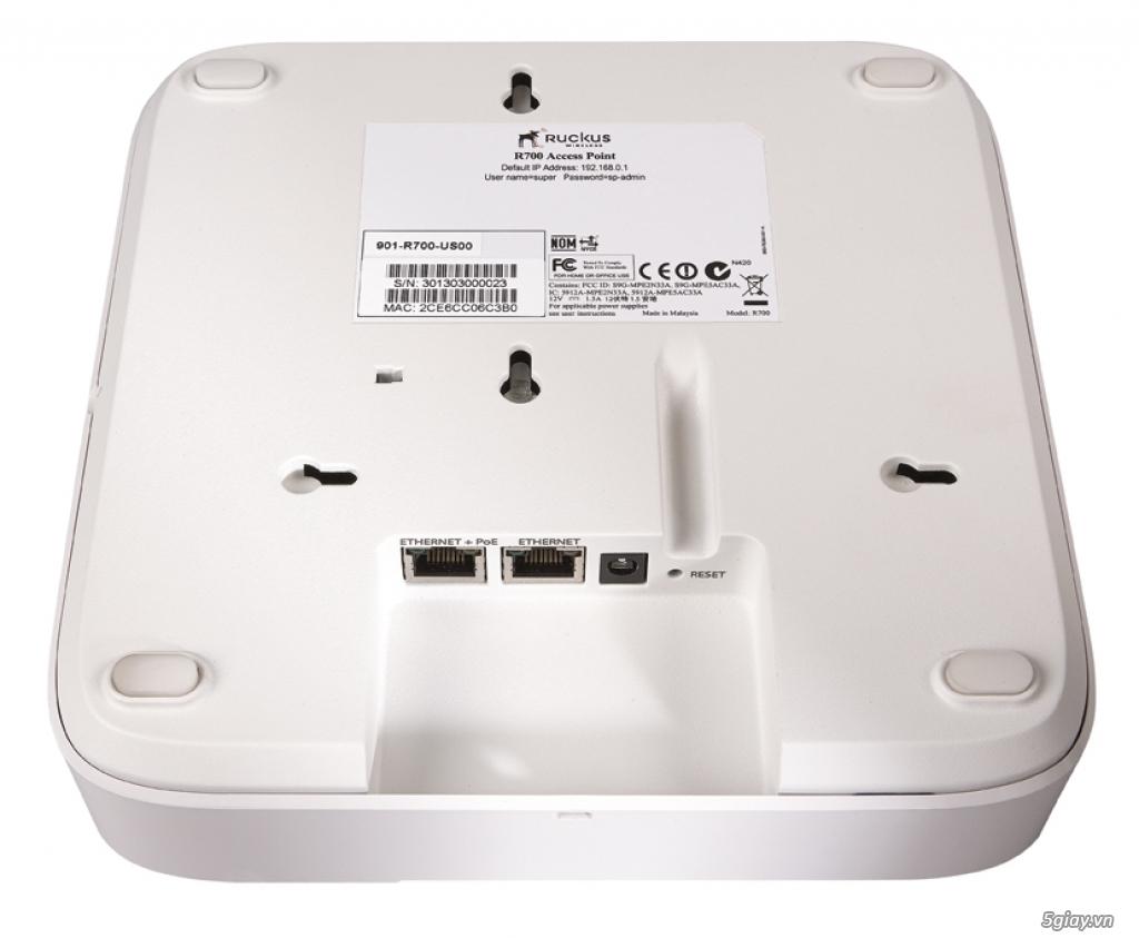 Wifi cao cấp thương hiệu USA: Ruckus ZoneFlex R700 Dual Band 802.11ac - 1