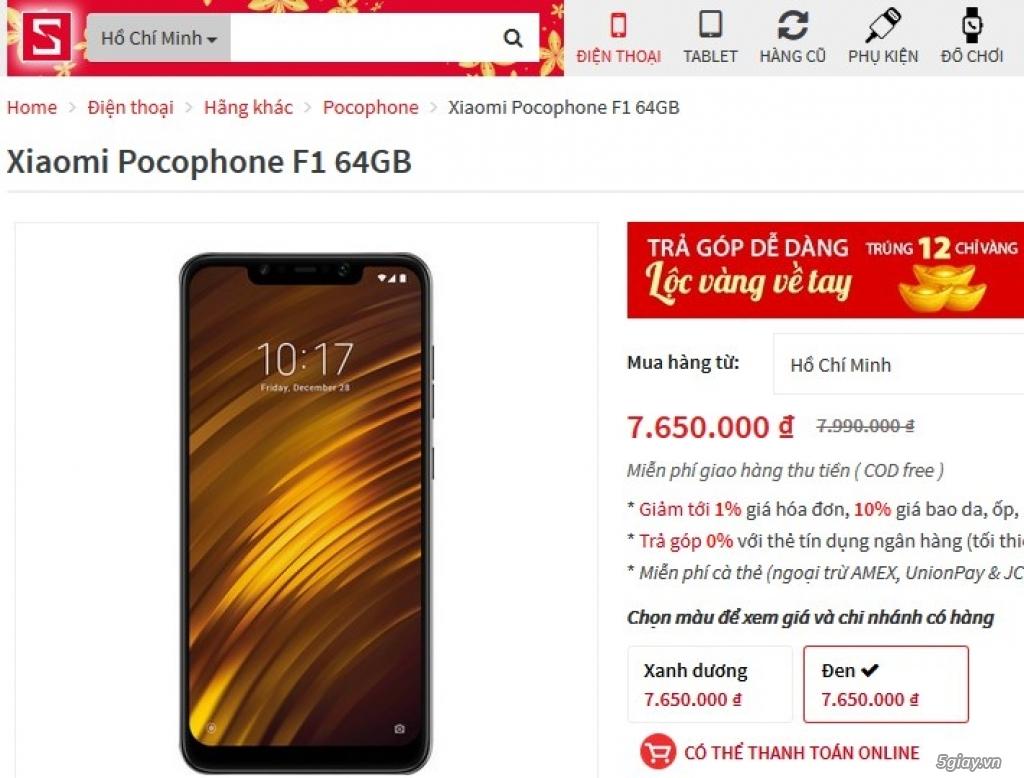 POCO F1 99% chính hãng Digiworld 12/2019 giá rẻ! - 1