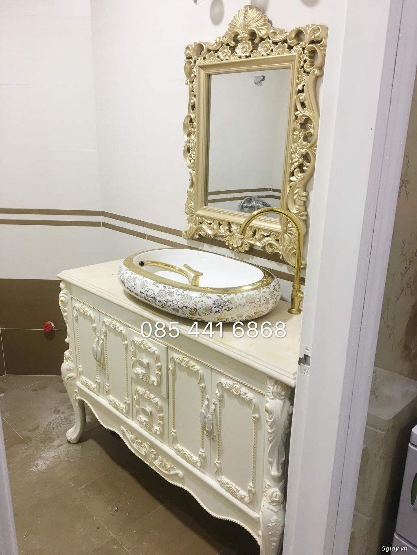 Bán tủ chậu lavabo tân cổ điển, hiện đại, tủ chậu mặt đá phòng tắm - 27