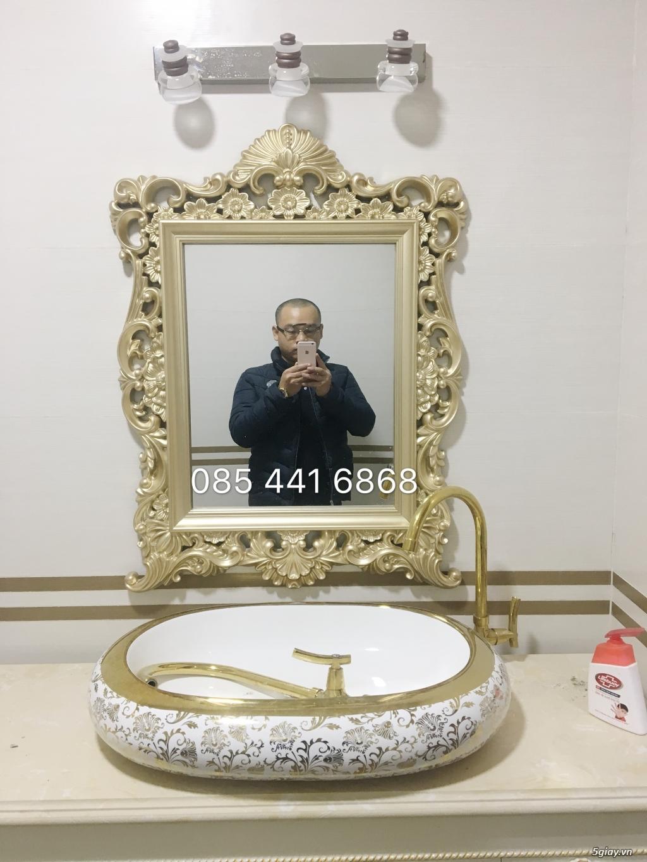 Bán tủ chậu lavabo tân cổ điển, hiện đại, tủ chậu mặt đá phòng tắm - 26