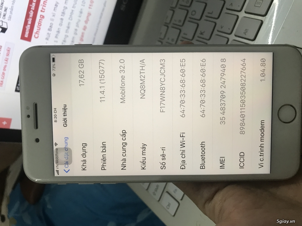 iphone 8plus silver 64GB BH Apple T5/2019 cần bán - 3