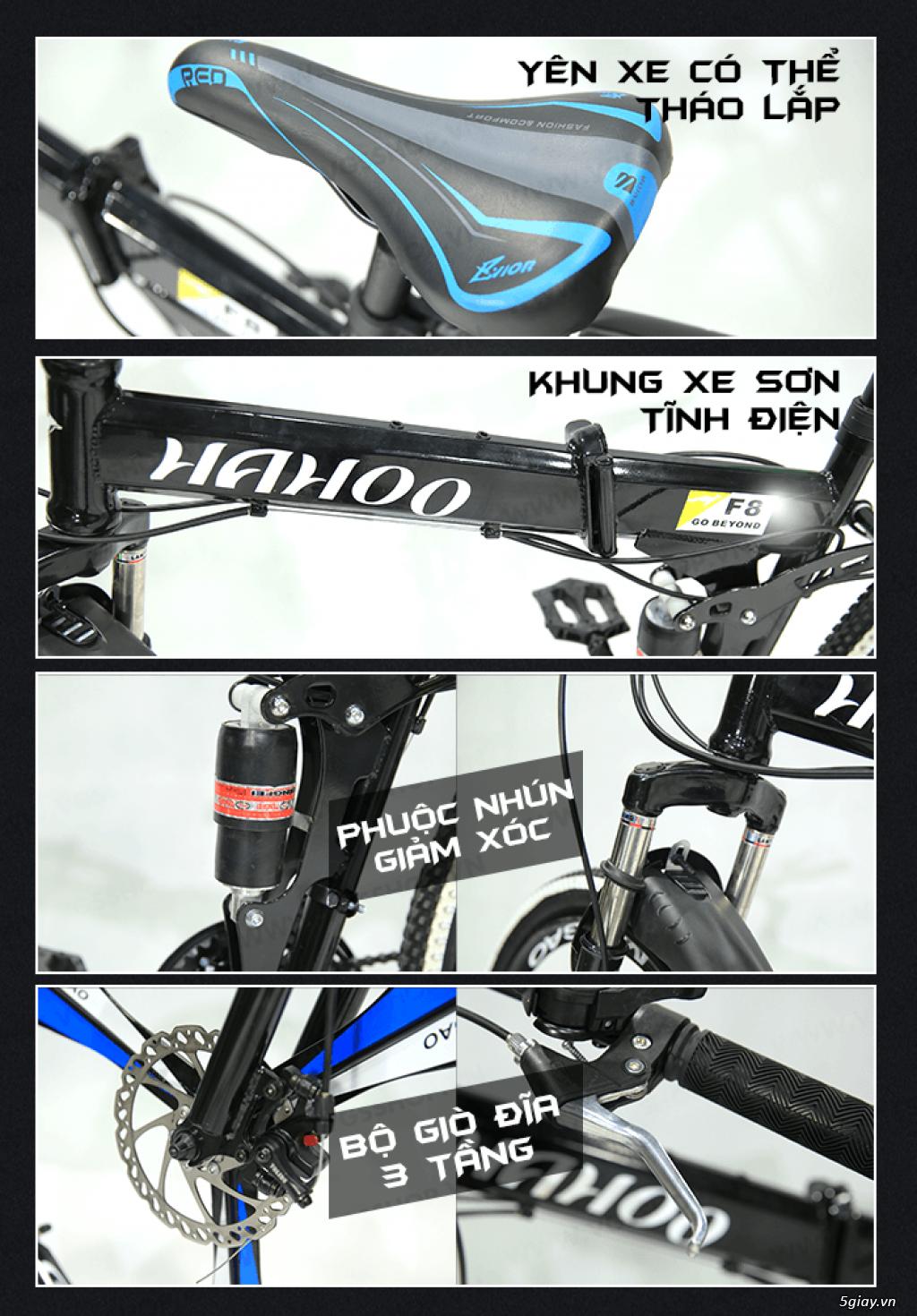 Xe đạp thể thao địa hình gấp gọn Hahoo - 9