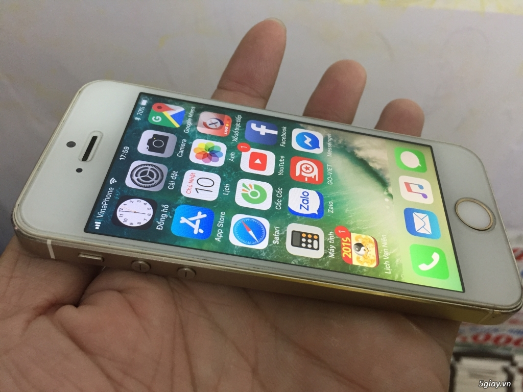 iPhone 5s-16Gg màu vàng Quốc Tế full vân tay - 4