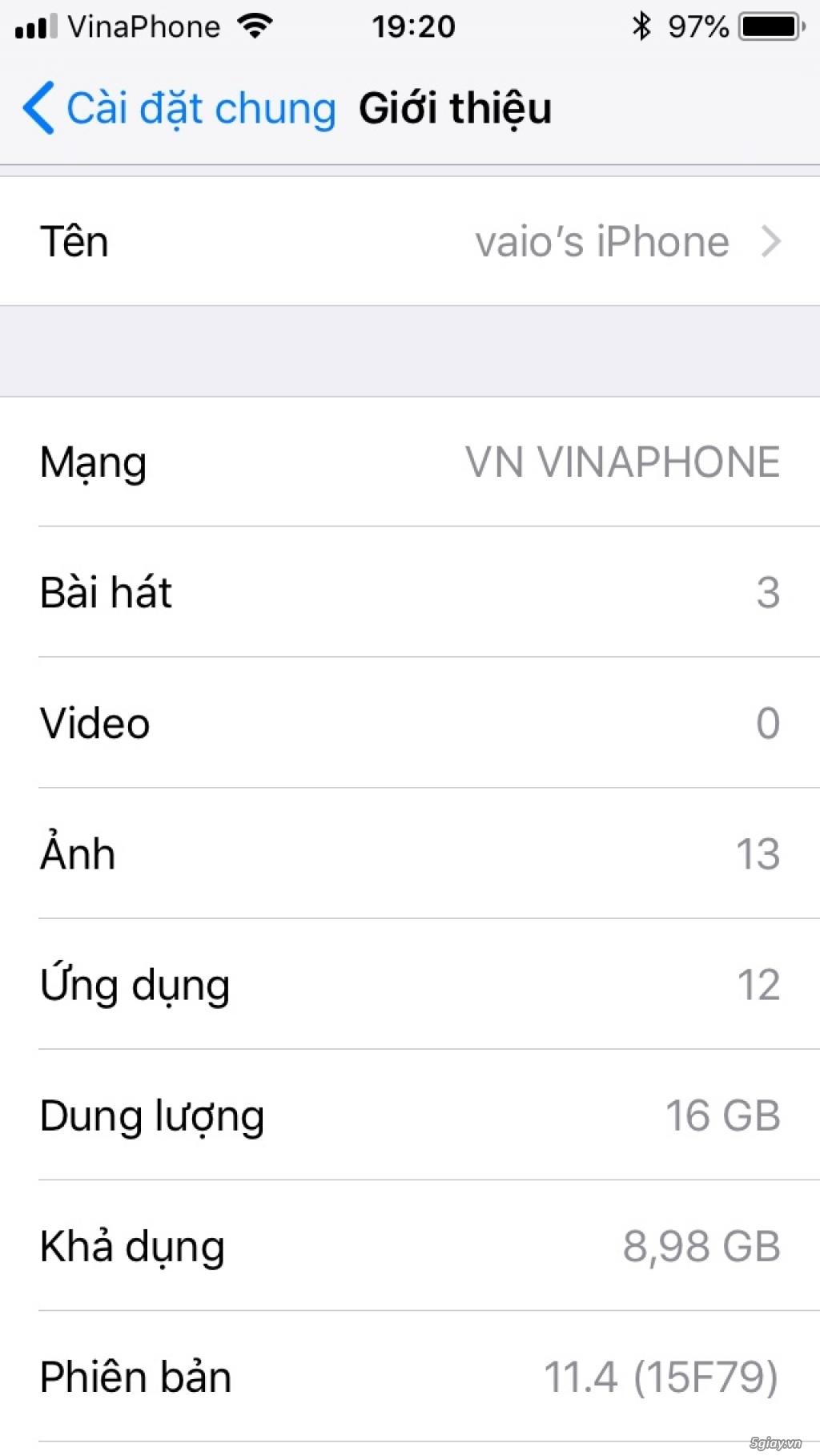 iPhone 5s-16Gg màu vàng Quốc Tế full vân tay - 5