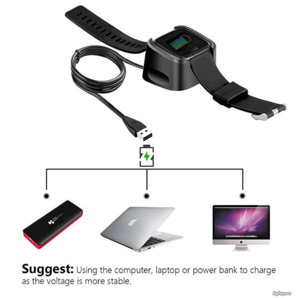 Chuyên phụ kiện cho đồng hồ fitbit: alta/charge 2/3, versa/ionic.. - 7