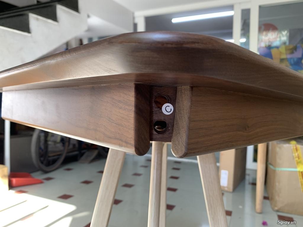 Bộ bàn học gỗ Óc Chó nhập khẩu - 2