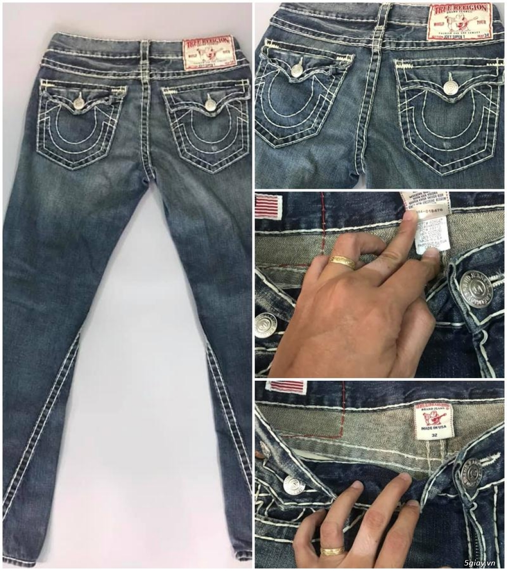 Quần jean si đa ( 2hand ) của các hãng Ông địa , D&G , A/X...  nhập từ USA , Italy ... - 5