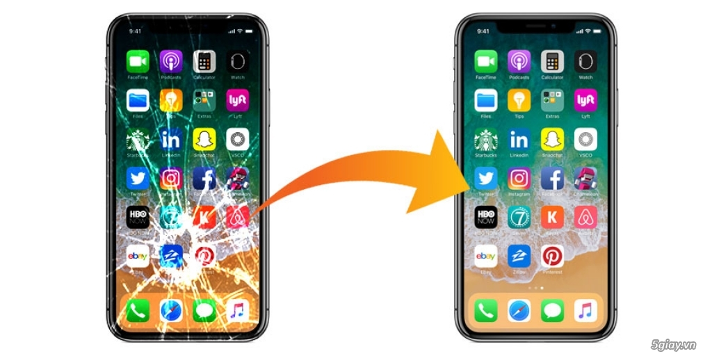 Linh kiện Iphone chính hãng: LCD, Pin, Vỏ, .... ( Mua bán - sửa chữa ) - 1