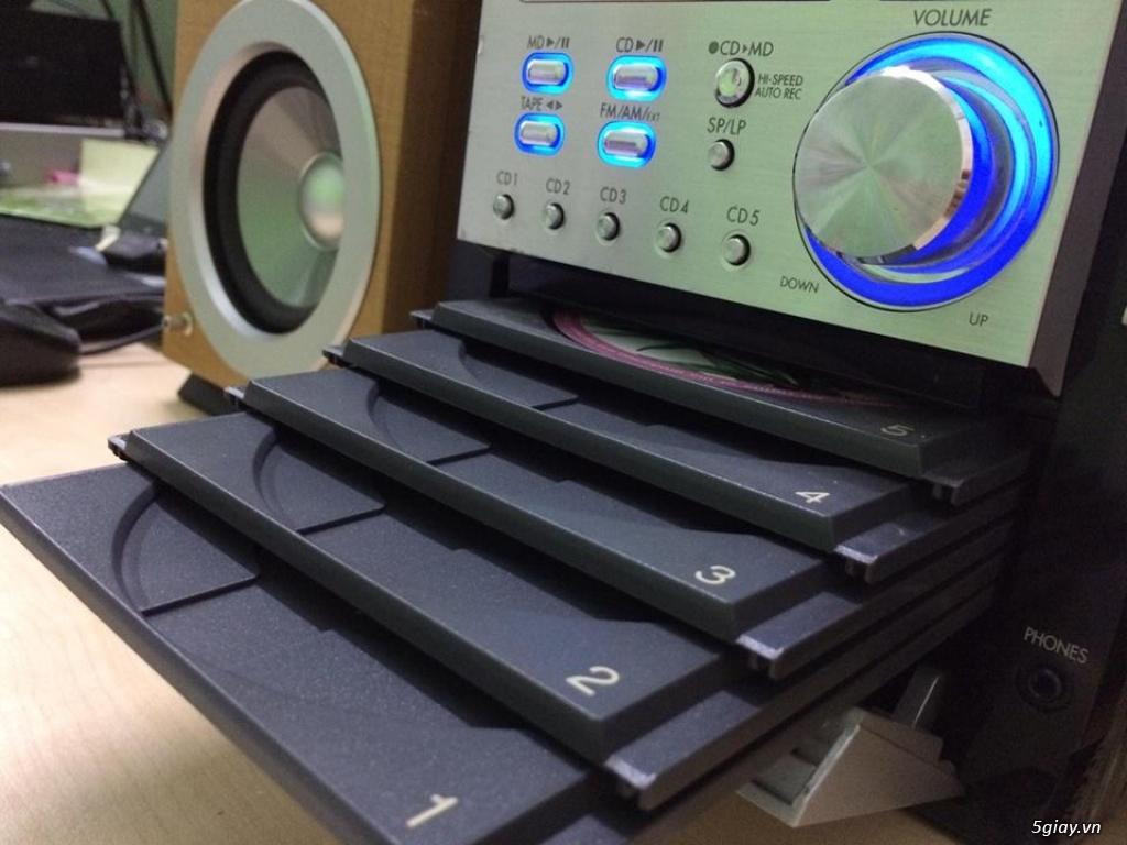 Dàn máy mini bookself 05 CD hiệu PANASONIC nội địa japan bi-wire hay - 2