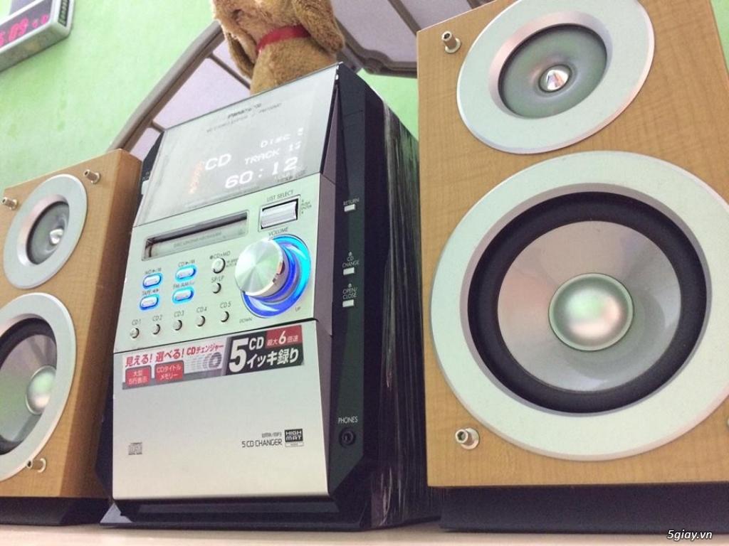 Dàn máy mini bookself 05 CD hiệu PANASONIC nội địa japan bi-wire hay - 6