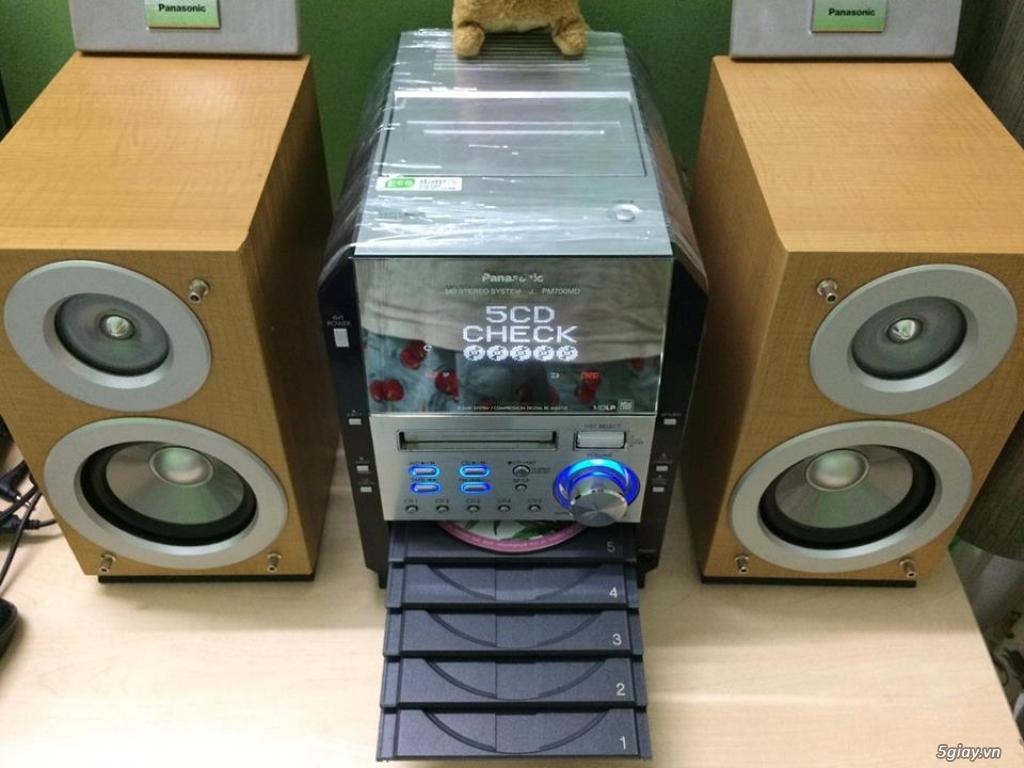 Dàn máy mini bookself 05 CD hiệu PANASONIC nội địa japan bi-wire hay - 4