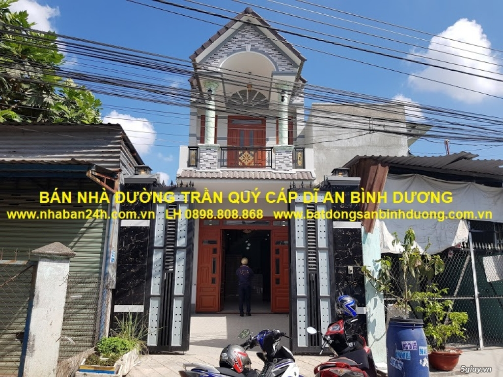 Bán nhà đường Trần Qúy Cáp Dĩ An Bình Dương mặt tiền Kình Doanh