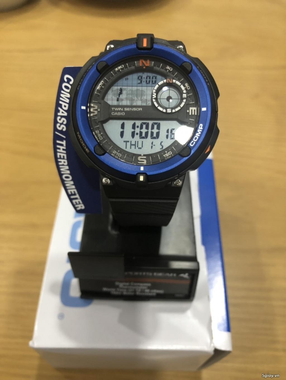 Đồng hồ casioSGW-600H cảm biến nhiệt độ,la bàn chính hãng mới full box - 4