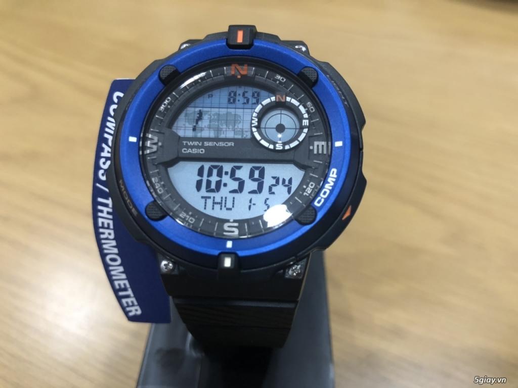 Đồng hồ casioSGW-600H cảm biến nhiệt độ,la bàn chính hãng mới full box - 1