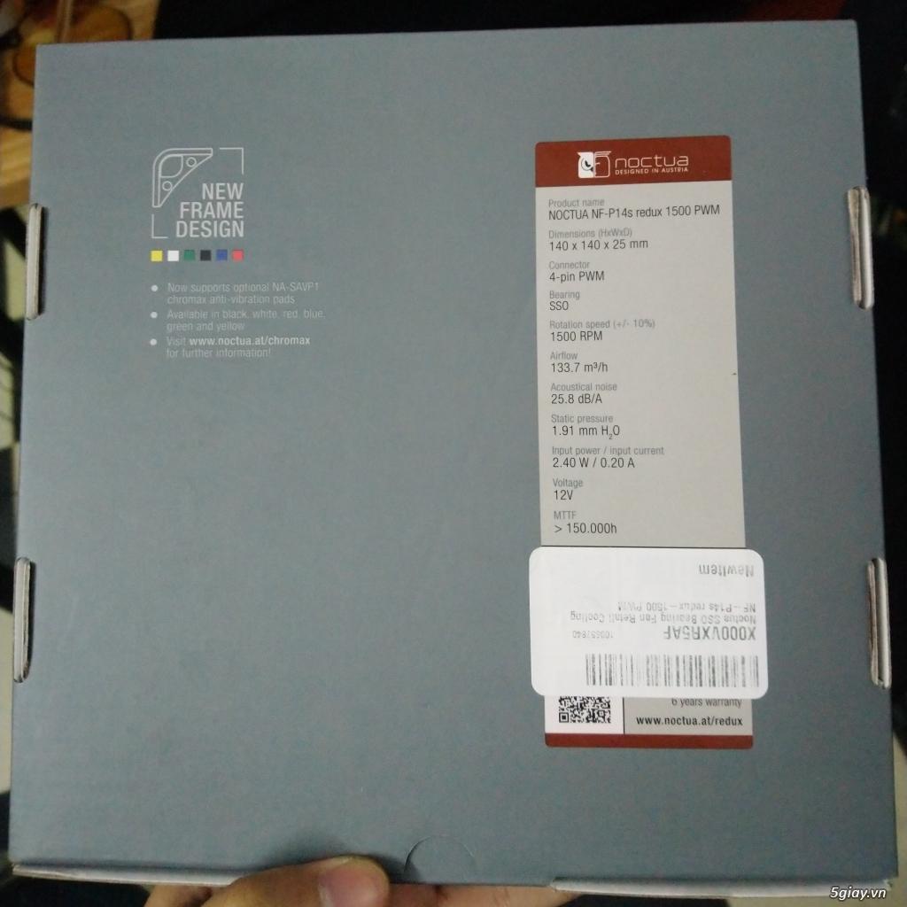 Quạt case Noctua NF-P14s redux-1500 vòng/p 140x140x25mm mới - 3