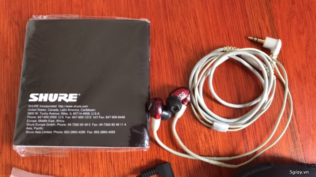 Shure SE535 LTD RED - bản đặc biệt của SE535 - 1