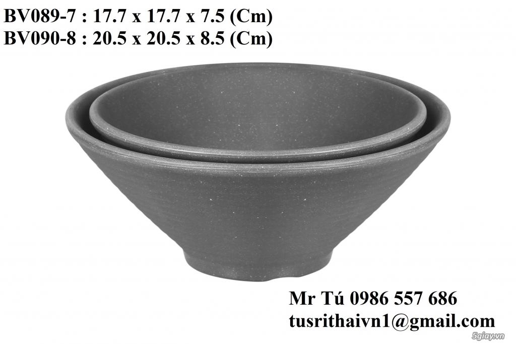 Chén Dĩa Nhám Superware Thái Lan - Granite - Dark grey - 5