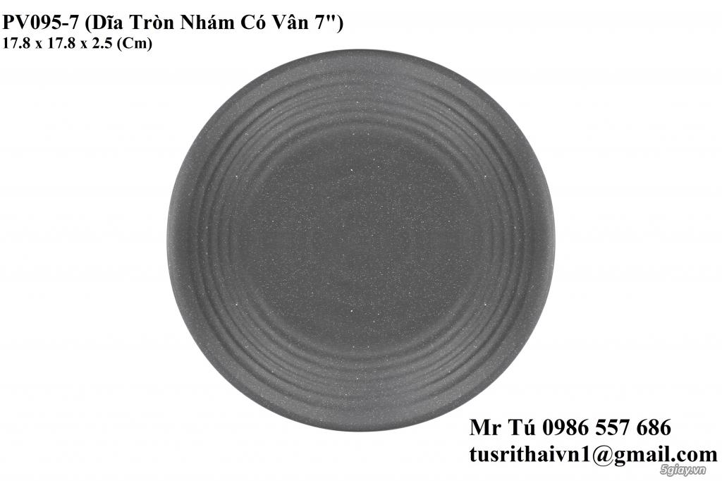 Chén Dĩa Nhám Superware Thái Lan - Granite - Dark grey - 20