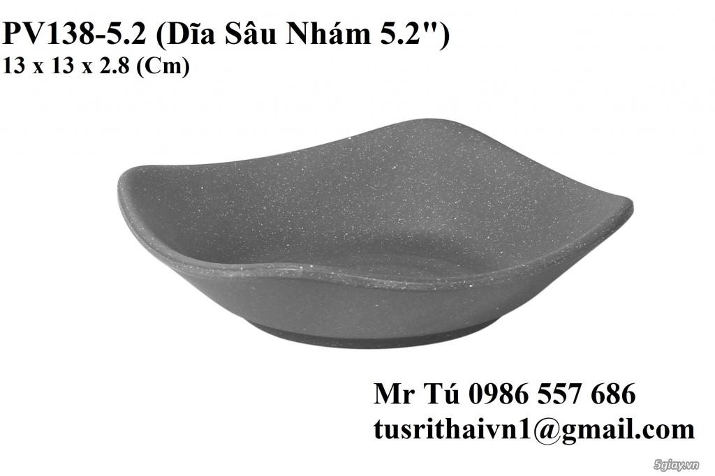 Chén Dĩa Nhám Superware Thái Lan - Granite - Dark grey - 24