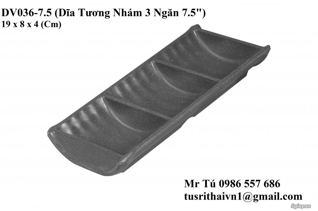 Chén Dĩa Nhám Superware Thái Lan - Granite - Dark grey - 13