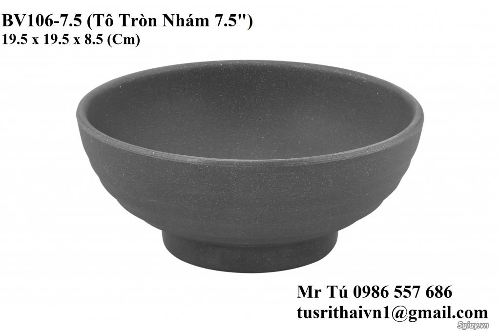 Chén Dĩa Nhám Superware Thái Lan - Granite - Dark grey - 12