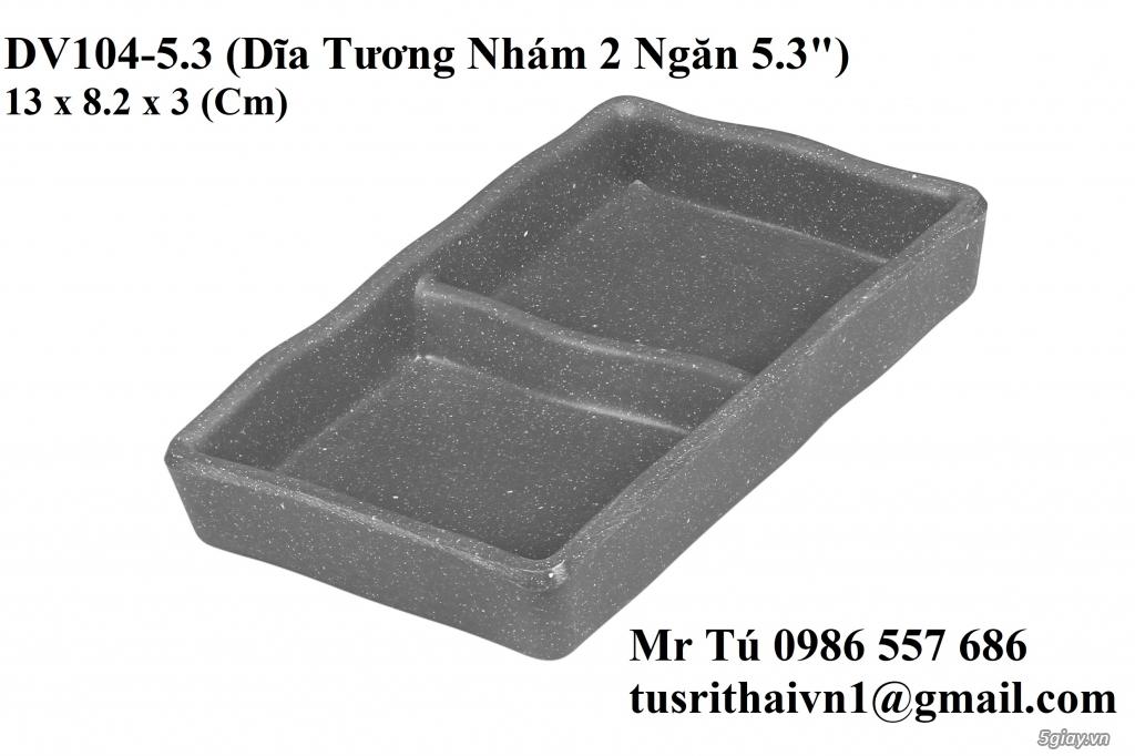 Chén Dĩa Nhám Superware Thái Lan - Granite - Dark grey - 6