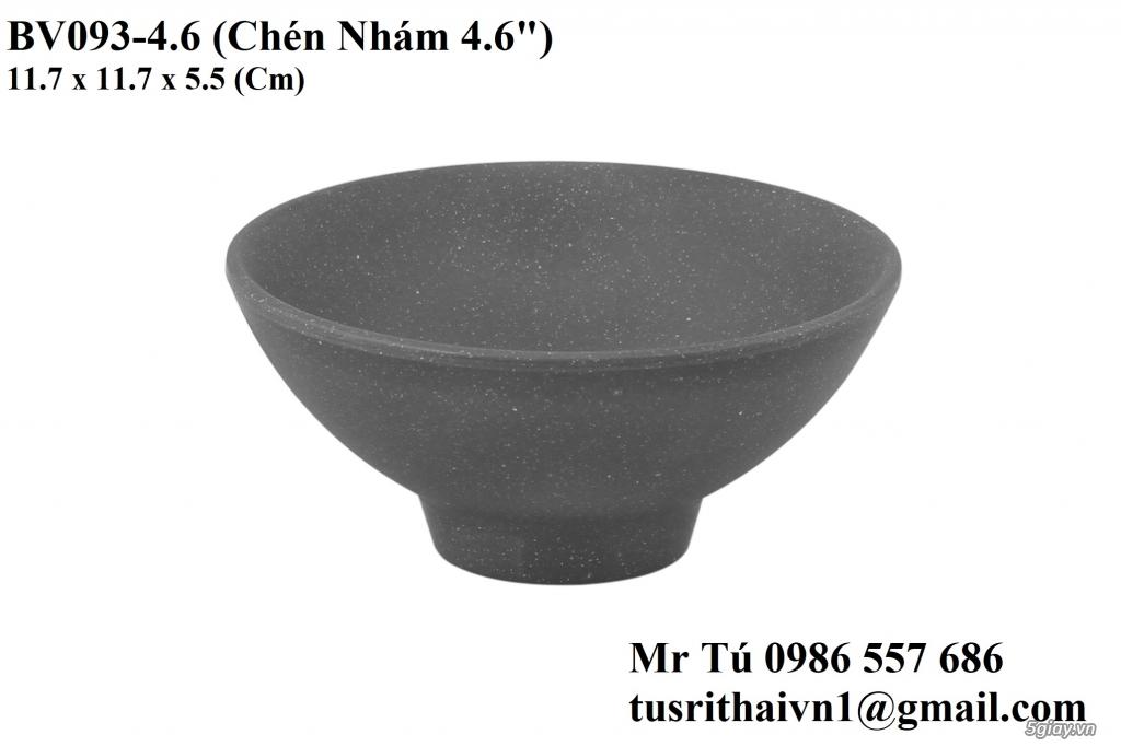 Chén Dĩa Nhám Superware Thái Lan - Granite - Dark grey - 4