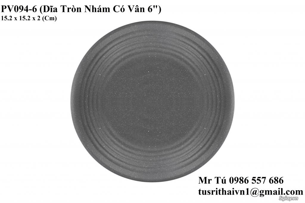 Chén Dĩa Nhám Superware Thái Lan - Granite - Dark grey - 16