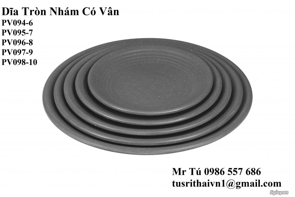 Chén Dĩa Nhám Superware Thái Lan - Granite - Dark grey - 19