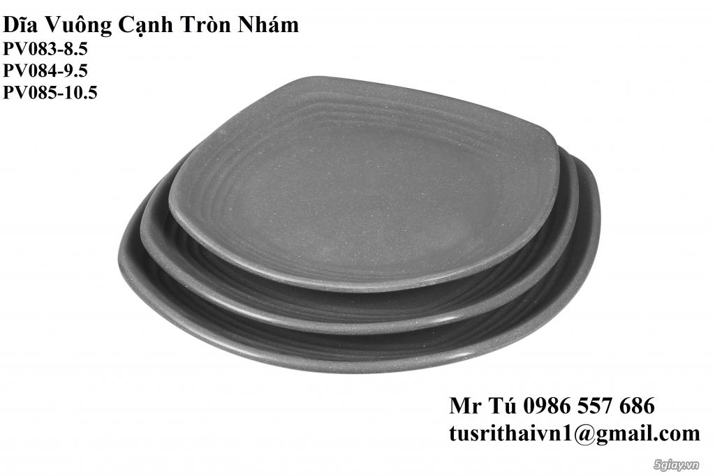Chén Dĩa Nhám Superware Thái Lan - Granite - Dark grey - 8