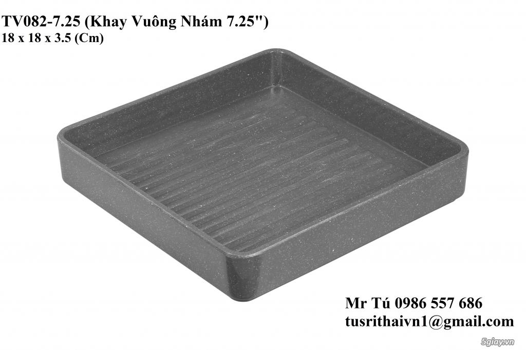 Chén Dĩa Nhám Superware Thái Lan - Granite - Dark grey - 18