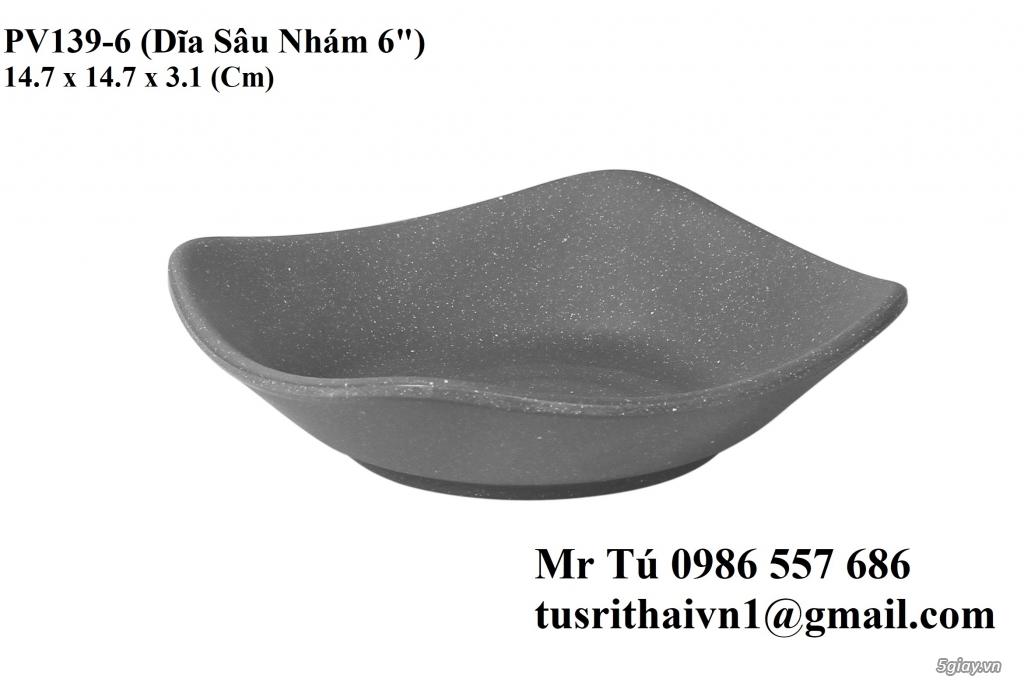 Chén Dĩa Nhám Superware Thái Lan - Granite - Dark grey - 27