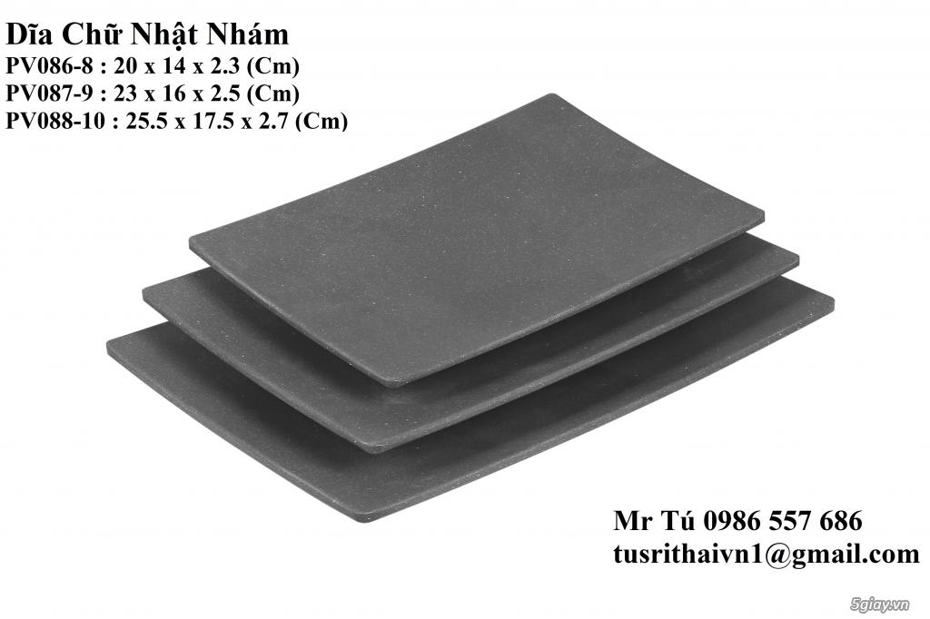 Chén Dĩa Nhám Superware Thái Lan - Granite - Dark grey - 14