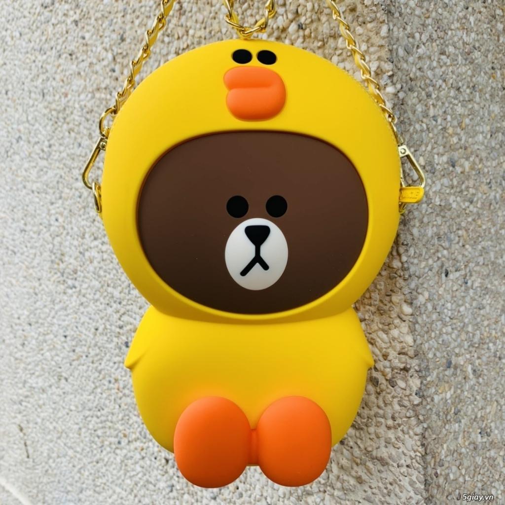 Túi đeo chéo Gấu Brown Linefriend - Túi Hình con Heo con vịt - 1