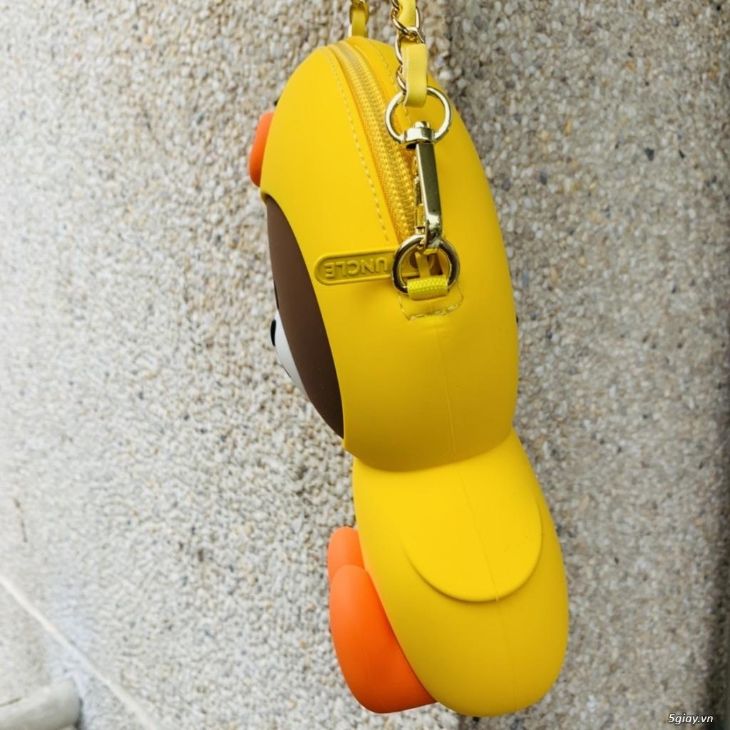 Túi đeo chéo Gấu Brown Linefriend - Túi Hình con Heo con vịt - 3