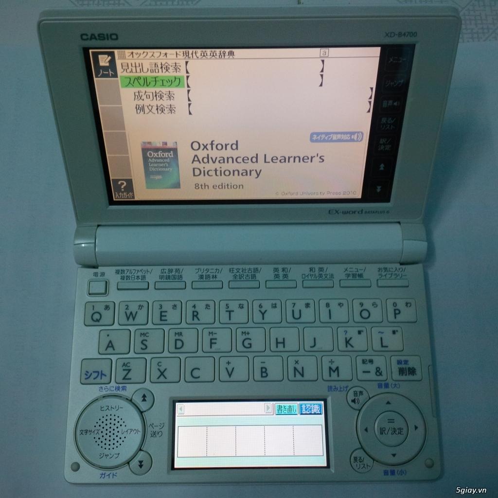 Thanh lý Kim từ điển tiếng Nhật Casio XD-B4700, xách tay Nhật - 4