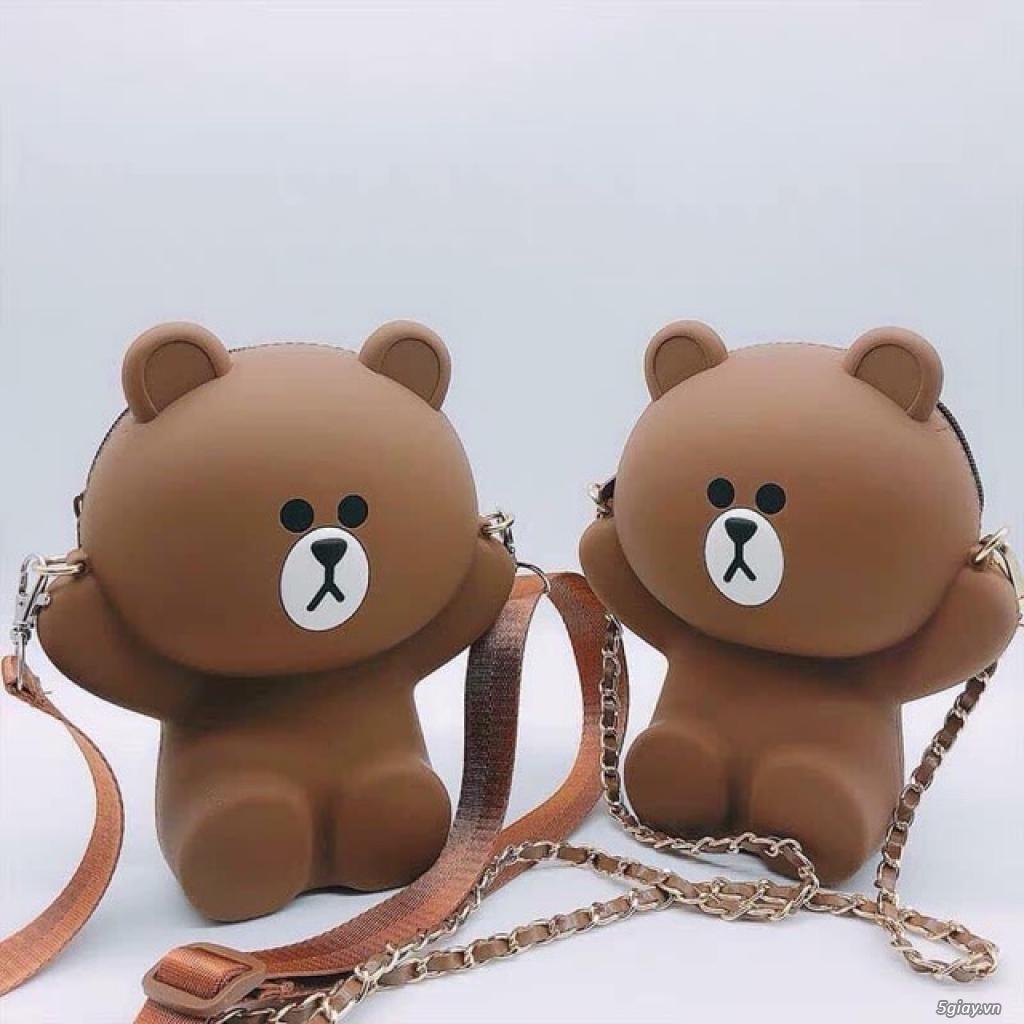 Túi đeo chéo Gấu Brown Linefriend - Túi Hình con Heo con vịt - 8