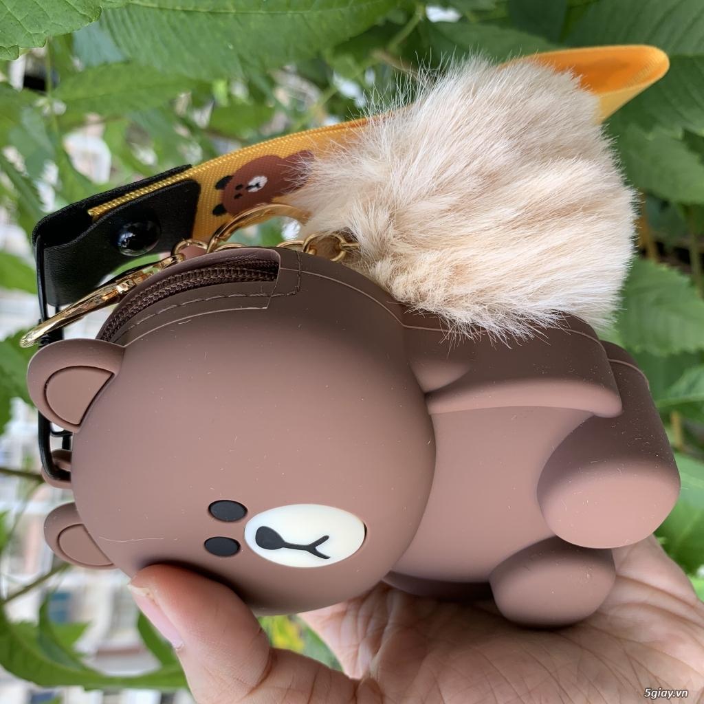 Túi đeo chéo Gấu Brown Linefriend - Túi Hình con Heo con vịt - 20
