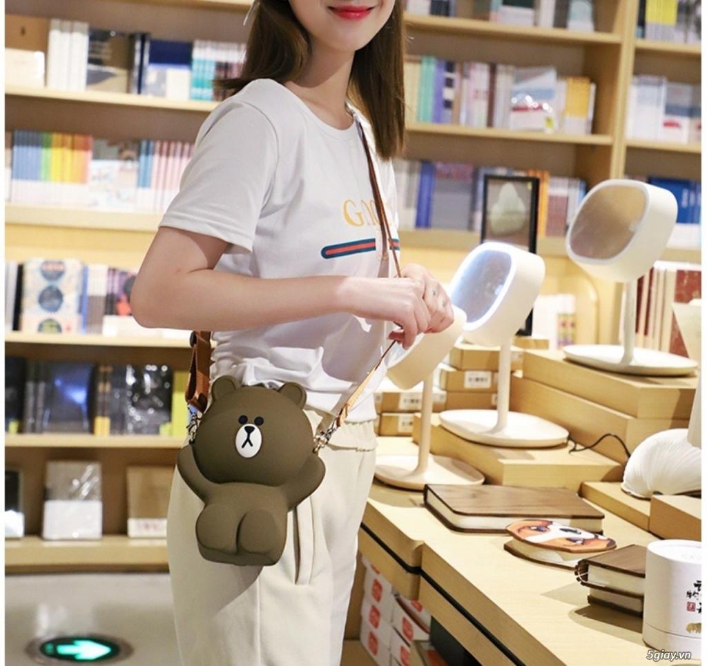 Túi đeo chéo Gấu Brown Linefriend - Túi Hình con Heo con vịt - 9