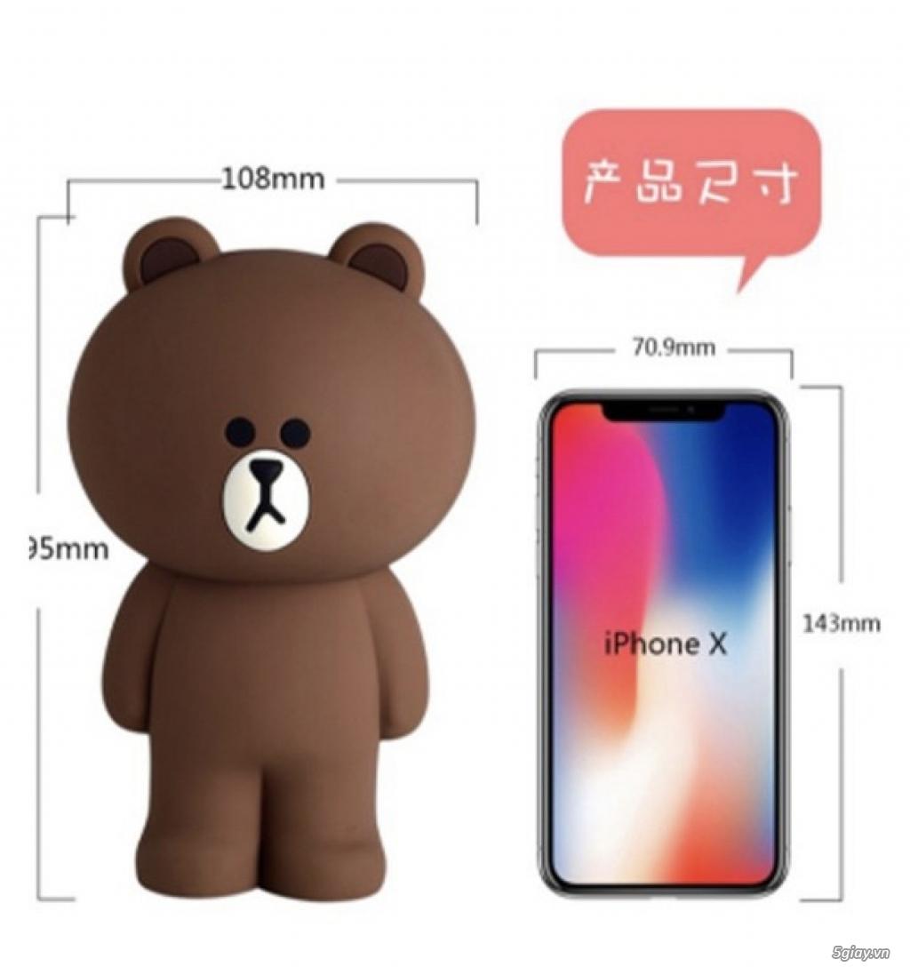 Túi đeo chéo Gấu Brown Linefriend - Túi Hình con Heo con vịt - 16
