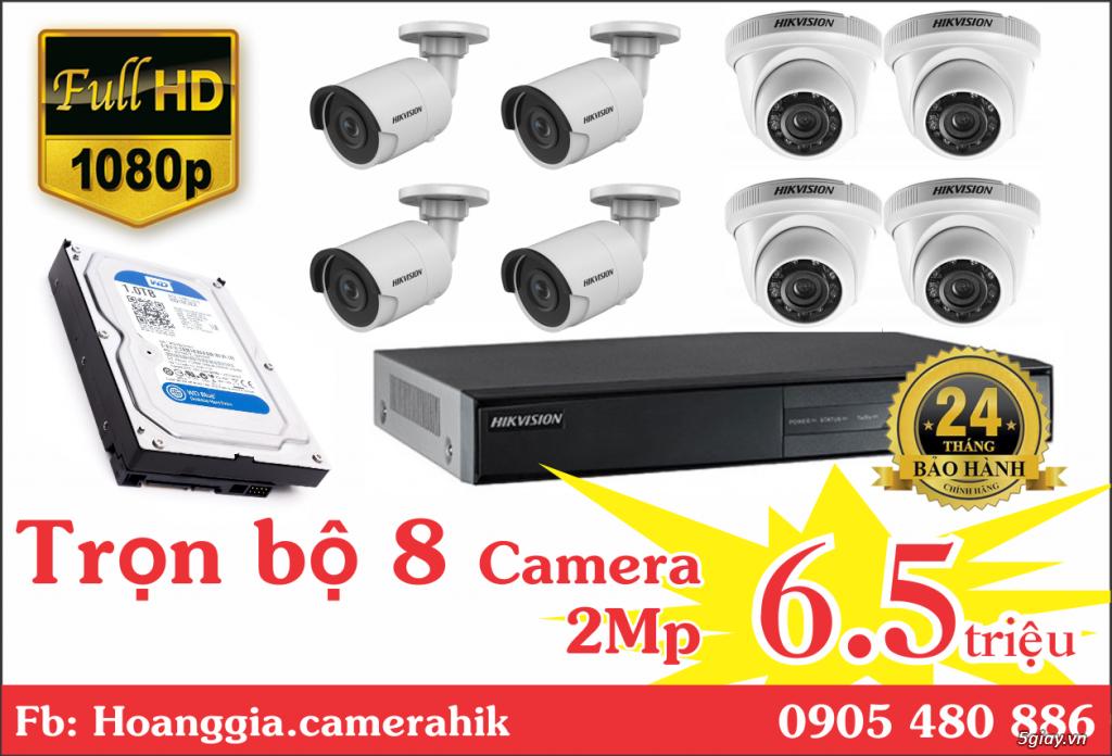 Trộn bộ 4 camera 1080p Hikvission giá rẻ - 2