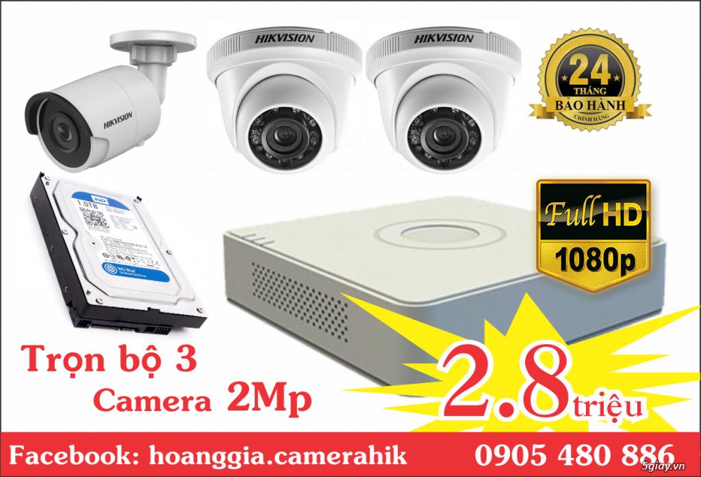 Trộn bộ 4 camera 1080p Hikvission giá rẻ - 4