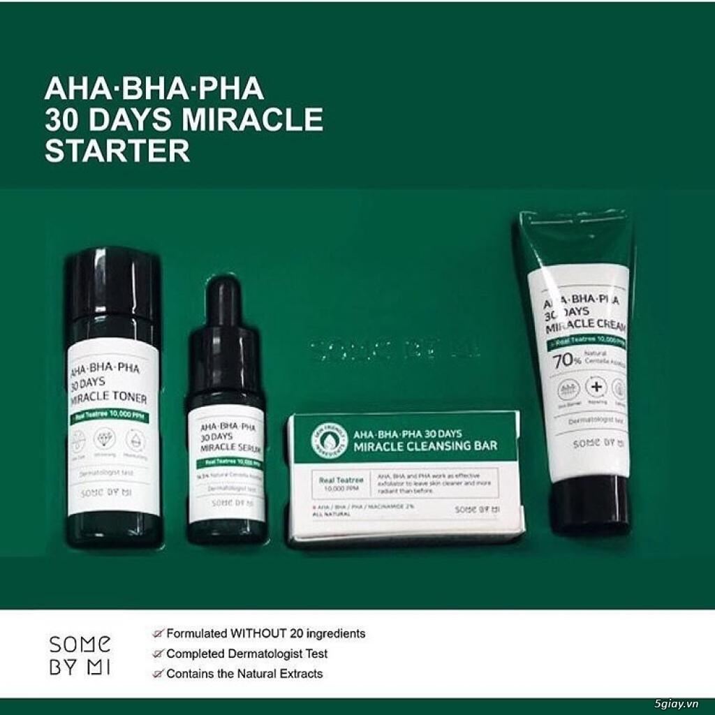 Bộ dưỡng trị mụn Some By Me AHA-BHA-PHA 30 Days Mini Set
