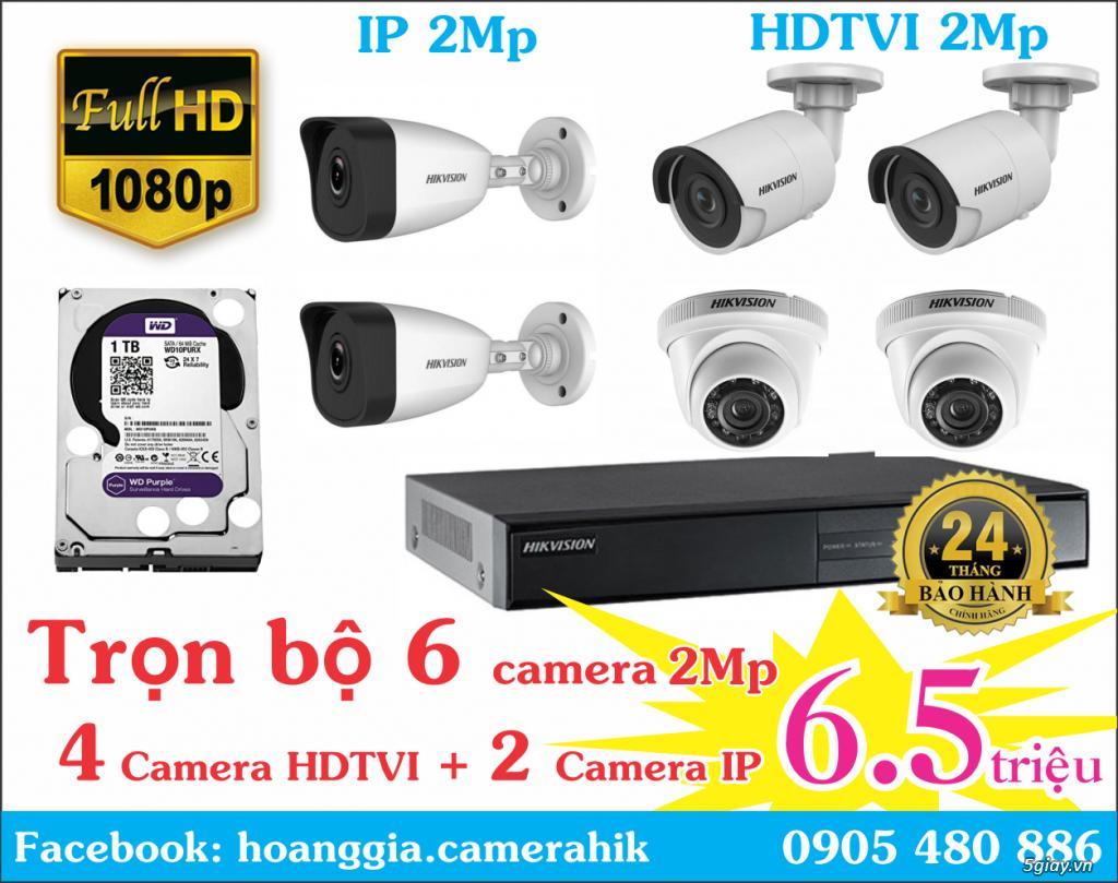 Trộn bộ 4 camera 1080p Hikvission giá rẻ