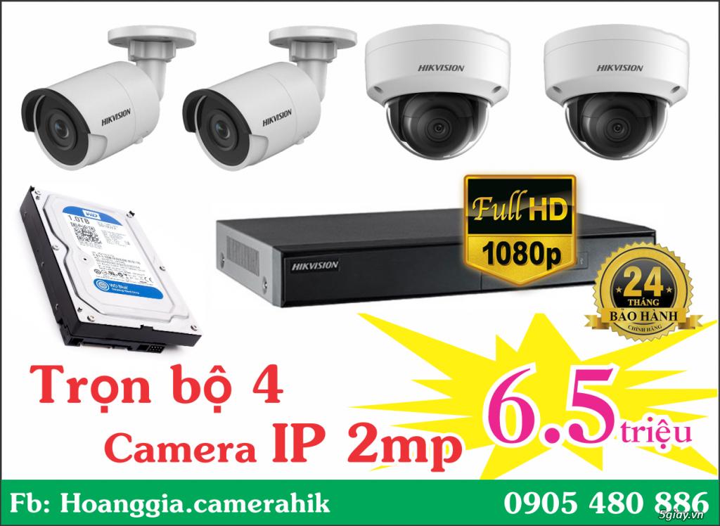 Trộn bộ 4 camera 1080p Hikvission giá rẻ - 1