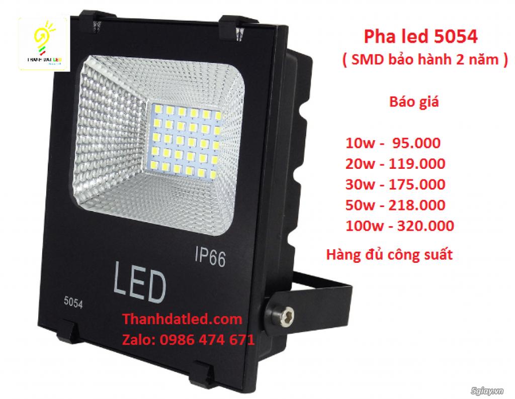 Báo giá đèn pha led 5054 ( bảo hành 2 năm 1 đổi 1 0 - 1